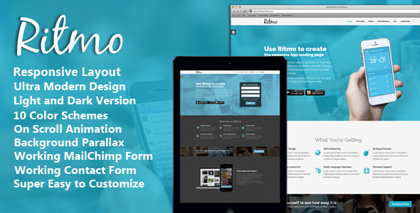 Keno - Flexible and Responsive HTML5 Landing Page