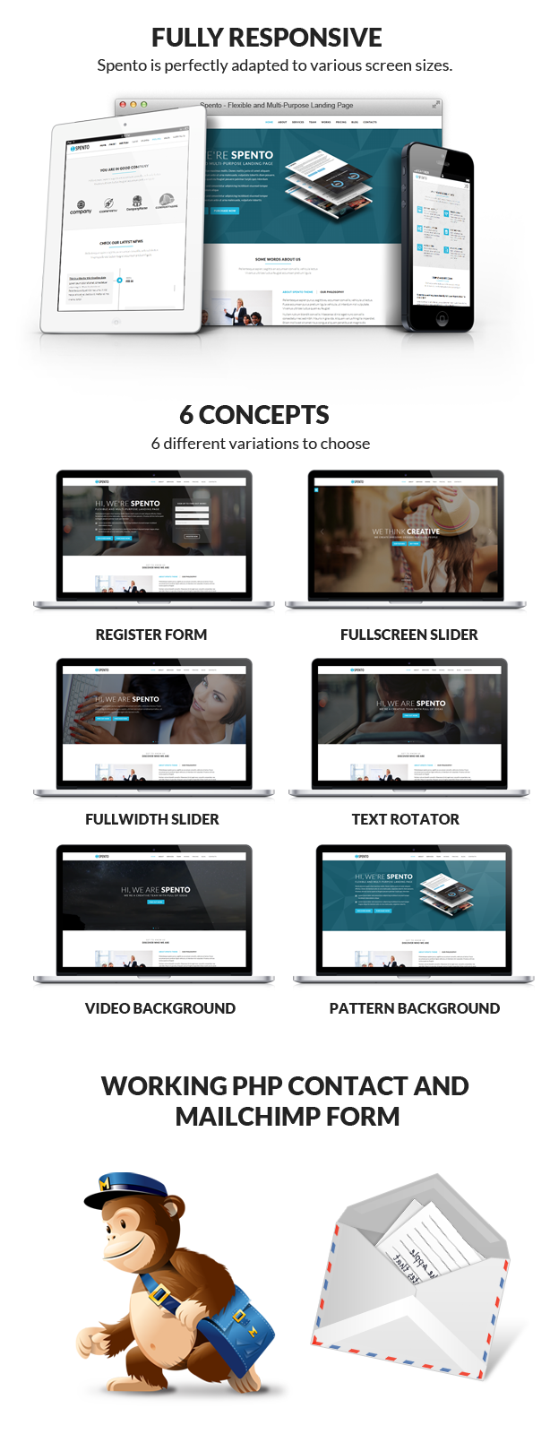 Spento - Flexible and Multi-Purpose Landing Page