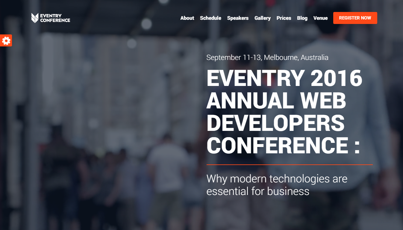 Eventry conference event landing page template video background pronofoot35fo Image collections