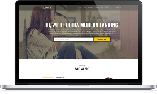 xlander premium landing page template preview